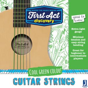First Act Discovery - Bunte Gitarrensaiten - Grün; FX812