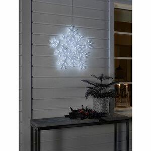 LED Acryl Schneeflocke mit 8 Funktionen 90 Kaltweiße Dioden IP44