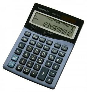 Olympia LCD 4312. Formfaktor: Desktop, Typ: Einfacher Taschenrechner. Stellen: 12 Ziffern, Textzeilen: 3 Zeilen