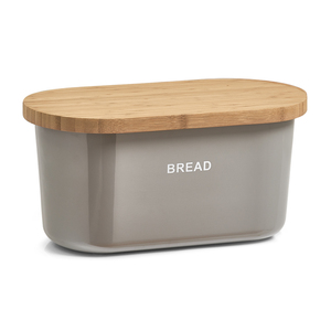 Zeller Brotkasten, grau, Melamin/Holz
