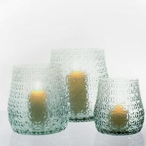 Dragimex, Windlichtglas, hellgrün, 17,5 x 18,5cm H, 59593
