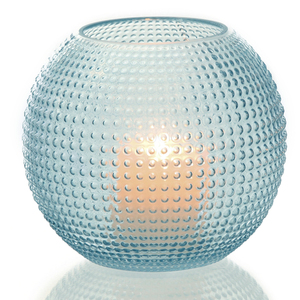 Dragimex, Windlichtglas, blau, 19 x 18 cm H, 55704