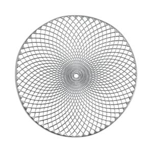 Zeller Present 26914, Rund, Silber, Einfarbig, 380 mm, 38 cm, 1 Stück(e)