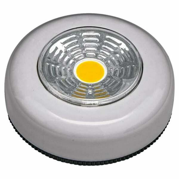 IDEENWELT 2er Set LED-Touch-Lights rund, silber