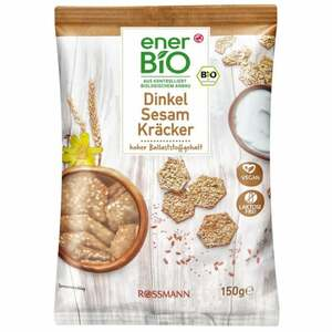 enerBiO Dinkel Sesam Kräcker 0.79 EUR/100 g