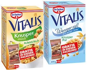 Dr. Oetker VITALIS®  Müsli + Müsli-Snack
