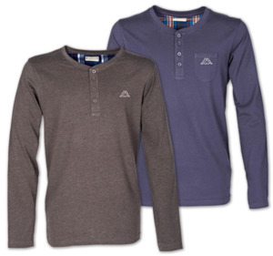 KAPPA Herren-Henley-Langarmshirt