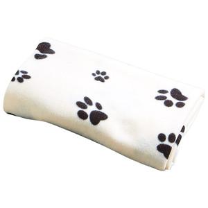 Haustierdecke Pfote (100x150, beige-schwarz)