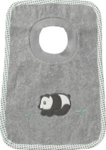 ALANA Baby-Lätzchen, in Bio-Baumwolle, grau, Panda, für Mädchen und Jungen