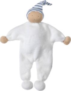 ALANA Baby-Puppe, in Bio-Baumwolle, weiß, blau, für Mädchen und Jungen