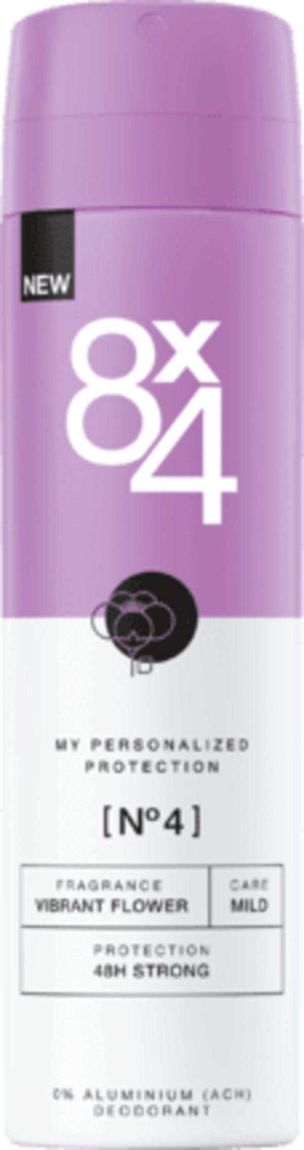 8x4 women Deo Spray Deodorant No.4 Vibrant Flower