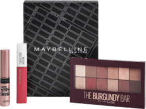 Maybelline New York Set Burgundy Palette + Superstay Matte Ink + Gratis Mini Mascara