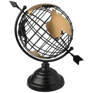 Dekofigur Globus aus Metall