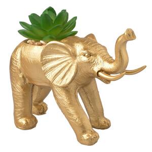 Dekofigur Elefant mit Sukkulente