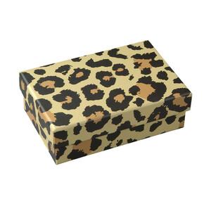 Kleine Geschenkbox mit Leoparden-Muster