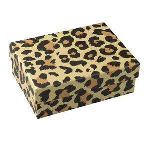 Mittelgroße Geschenkbox mit Leoparden-Muster