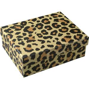 Große Geschenkbox mit Leoparden-Muster