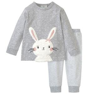 Baby Schlafanzug mit Hasen-Applikation