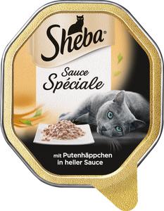 Sheba Sauce Spéciale mit Putenhäppchen in heller Sauce Katzenfutter nass 85 g