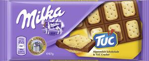 Milka Alpenmilch Schokolade mit TUC-Crackern 87 g