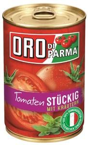 Oro di Parma Tomatenstückig mit Kräutern 400 g
