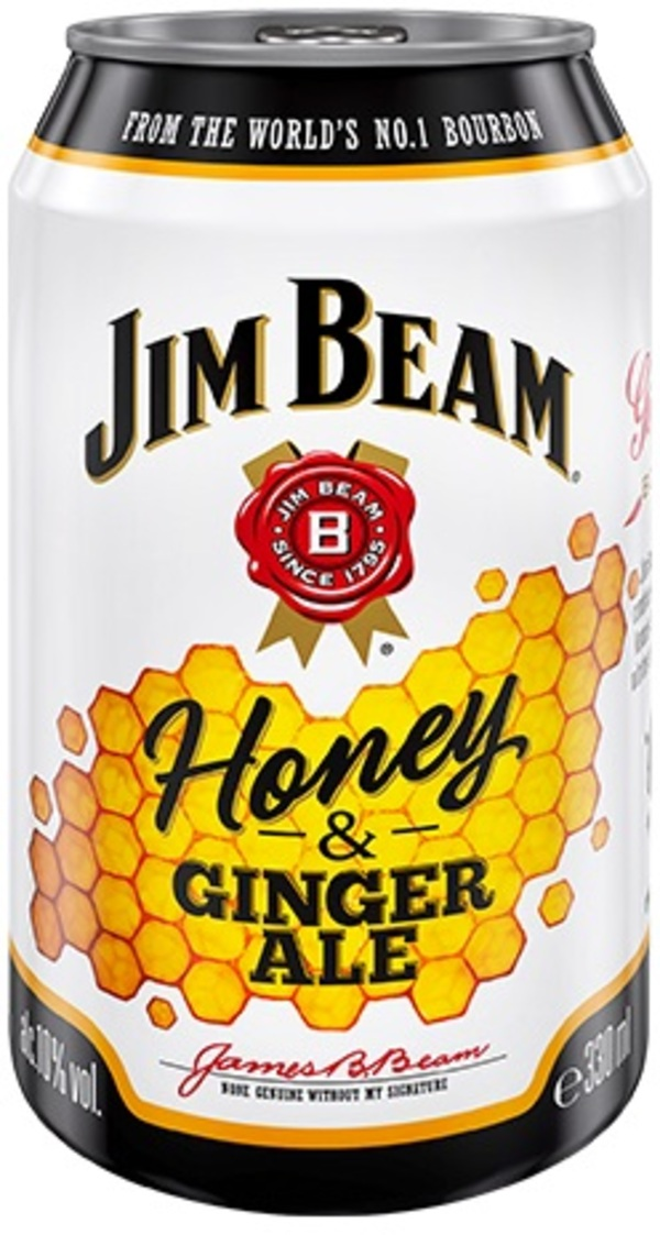 Jim Beam Honey & Ginger Ale 0,33 ltr