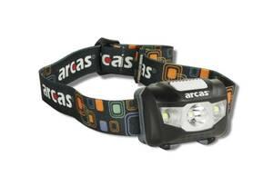 LED Stirnleuchte mit 5 Watt CREE LED, 2 seitliche Flutlicht LEDs, IPX6 Arcas