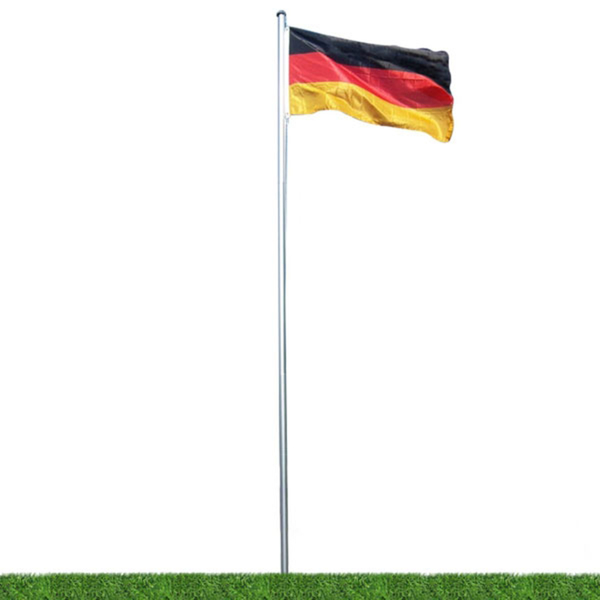 Fahnenmast ca. 6 Meter mit Deutschlandflagge aus Aluminium