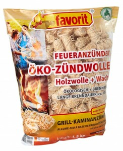 Favorit Öko-Zündwolle 1,5 kg Beutel ,  1,5 kg
