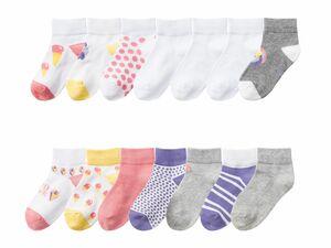 PEPPERTS® 7 Paar Kinder/Kleinkinder Mädchen Sneakersocken