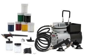Airbrush Kompressor DAS 300/1 Set Creativ ROWI
