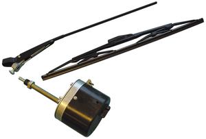 Scheibenwischermotor, Wischerarm und Wischblatt im Set