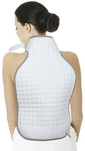 Rücken- und Nacken-Heizkissen, Weiß/ Grau Mia
