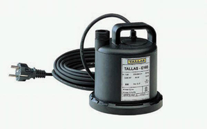 Flachsauger-Tauchpumpe E 160 NA, flachsaugend bis 3 mm, 90 Watt Tallas