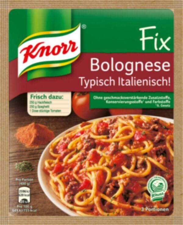 Knorr Fix Spaghetti Bolognese Typisch Italienisch 48 g