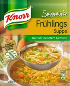 Knorr Frühlingssuppe, Suppenliebe ergibt 0,75 L