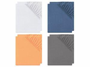 MERADISO® 2er Spannbettlaken, 90-100 x 200 cm