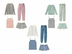 ESMARA® Lingerie Damen Pyjama, 4-teilig