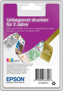Epson EcoTank Unlimited Printing Karte (2 Jahre)