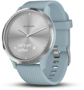 Garmin vivomove HR Sport S/M Activity Tracker silber/blaugrün