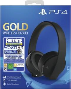 Sony PS4 Wireless Headset Gold Edition Fortnite Neo Versa Bundle schwarz