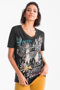 Canda         T-Shirt - Bio-Baumwolle - Glanz Effekt