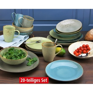 CREATABLE Kombiservice 20-teilig Keramik mehrfarbig