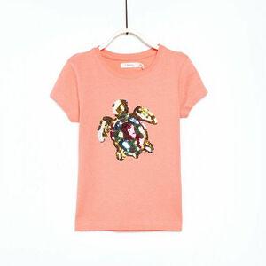Sfera Mädchen T-Shirt mit Pailletten-Schildkröte