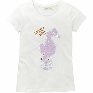 Sfera Mädchen T-Shirt Seepferdchen, Wendepailletten