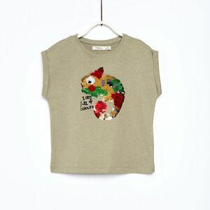 Sfera Mädchen T-Shirt mit Pailletten-Chamäleon