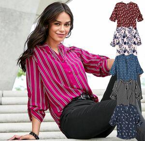 Laura Torelli COLLECTION Damen-Bluse mit verschiedenen Mustern