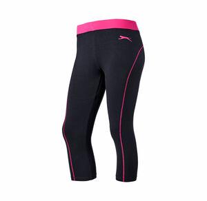 Damen-Fitnesshose mit Kontrastbund