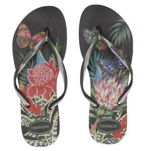 havaianas             Zehentrenner, floraler Print, Logo-Details