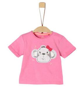 s.Oliver             T-Shirt, Affenkopf-Patch, für Babys